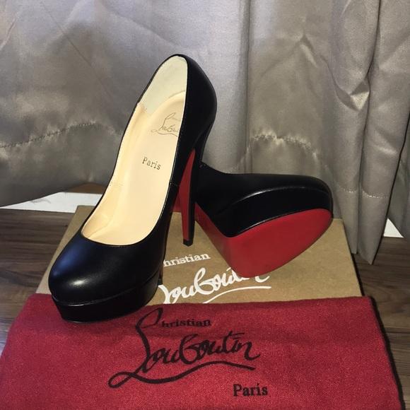 red bottom black stilettos